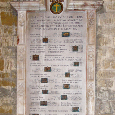 Bottesford World War 1 Memorial, south aisle of St Mary the Virgin parish church | Neil Fortey