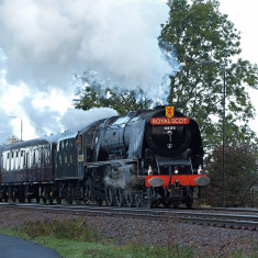 The restored Duchess of Sutherland hauliung the Royal Scot towards Bottesford, October 16th 2010. | Copyright: Ashley Waterfall
