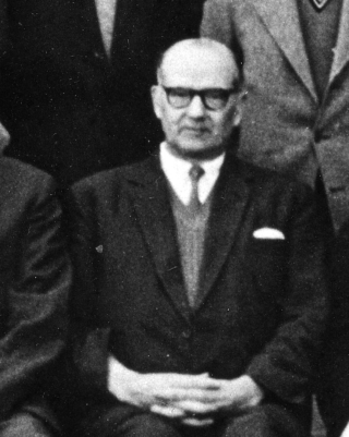 Mr Stimpson in the late 1950s, shortly before he retired. | Bottesford Local Hisory Archive - from the collection of Mrs Wendy Cross