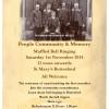 Muffled Bell Ringing, St Mary's Bottesford, Saturday 1st November 2014