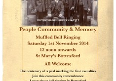 Muffled Bell Ringing, St Mary's Bottesford, Saturday 1st November 2014