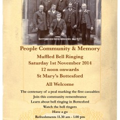 Bottesford Parish WW1 Centenary, 1st November, 2014