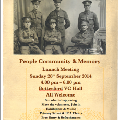 Launch Poster, Bottesford Parish WW1 Centenary, 28th September 2014