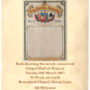 Rededicating the newly conserved Bottesford Chapel Roll of Honour