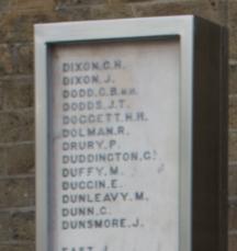 Dolman R. on the LNER/GNR War Memorial, King's Cross, London | BCHG (DM)