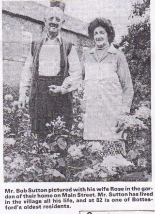 Bob and Rose Sutton at home in 1981. | Grantham Journal