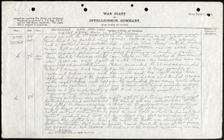 War Diary 1st Bn Sherwood Foresters 7/8th October 1918 | National Archives