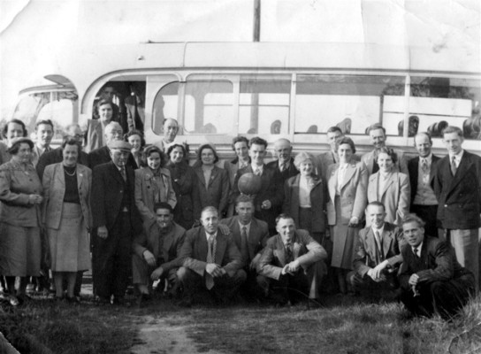 A football outing in 1950
