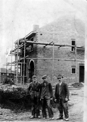 Bottesford builders at corner of Pinfold Lane | Collection of Jill Bagnall