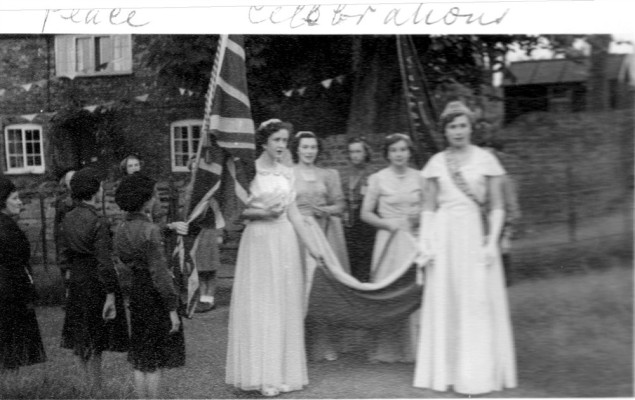 Peace Celebrations - Dorothy Calcraft as May Queen | Collection of Jill Bagnall