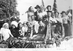 A float at the Peace Celebrations