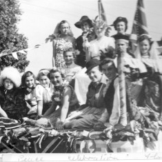 Bottesford Guides float during victory celebration 1951 | From the collection of Mrs Jill Bagnall