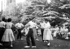 Scouts and Guides dancing in a fete on the Rectory lawn - 1