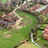 Aeriel picture showing Devon Farm and part of the Riverside Walk estate