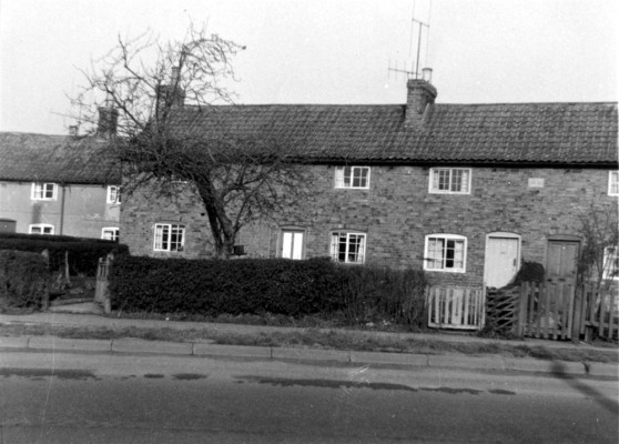 The row of Bunker Hill cottages that was demolished