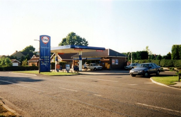 Snap shot of the FINA service station on Grantham Road