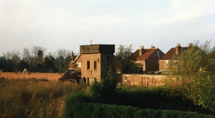 Water tower and boundary wall of The Vineries before demolition