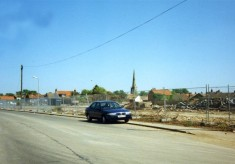 Snap shot of Barkestone Lane after demolition of the Bullock and Driffil works