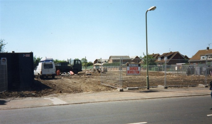 Snap shot of the building site on the old Bullock and Driffil location