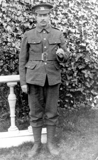Pte. Harold  Brewster, 1st Battalion, Leicestershire Regiment   From the collection of Mrs D Beedham