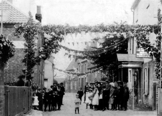 Village celebration in 1911, Chapel Street