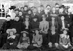 Victorian wedding group