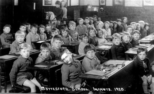 The village infants class in 1928