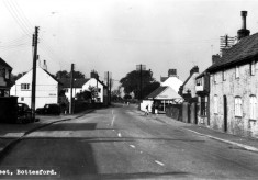 old postcard of Bottesford High Street