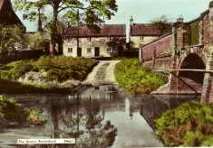 Colour postcard of the Devon Lane (The Green) ford