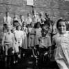Photo of children in yard