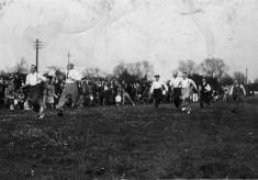 Men in sports day race
