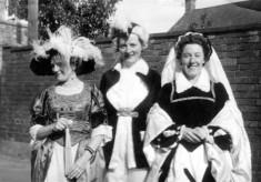 Three village ladies in costume