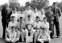 School cricket team 1958