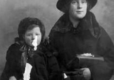 Studio portrait of Ellen and Ada Bateson
