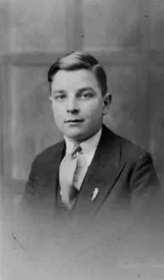 Studio portrait of Walter Bateson