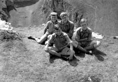 Scouts in limestone terrane of Peak District