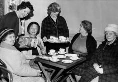 Village ladies enjoying tea and a chat