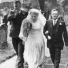 Wedding picture, Betty Robinson being given away by father Tommy