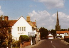 Colour postcard of Market Place and Country Bistro