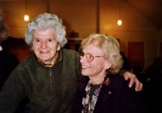 Mrs Ada Bond and Yolande Norris