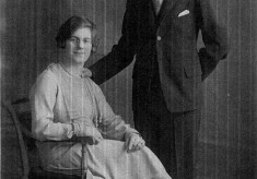 studio picture of a young couple