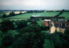 View from Holliers - railway and Beckingthorpe Farm