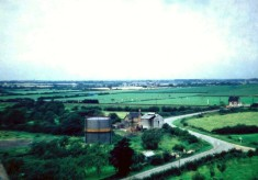 View from Holliers - gas works and railway crossing