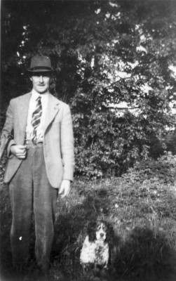 Mr Frank Topps and his dog