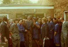 Staff and manager at the Bottesford food factory