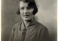 Portrait of Mary Topps as a young woman