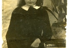 Portrait of Mary Topps as a girl