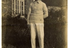 Young man in cricket clothes
