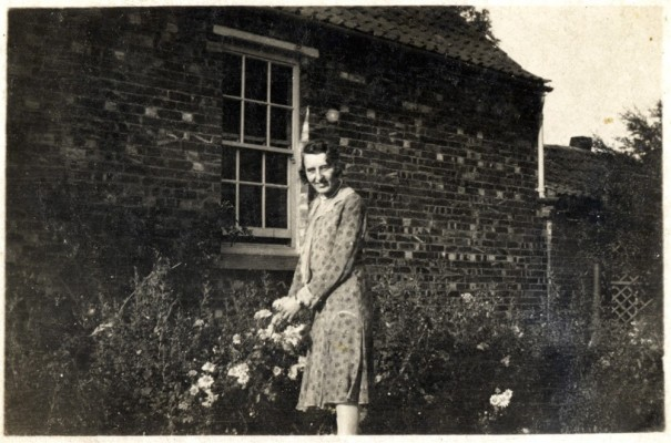 Mary Topps in the garden at Muston Rectory