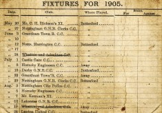 Bottesford Cricket Club fixtures card